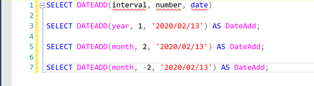 SQL DATEADD() SYNTAX to get the last day of previous month in SQL