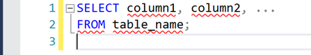 SQL SELECT syntax